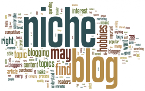 Various written words of what niche blogging is about