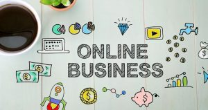 Online Business Written In Words